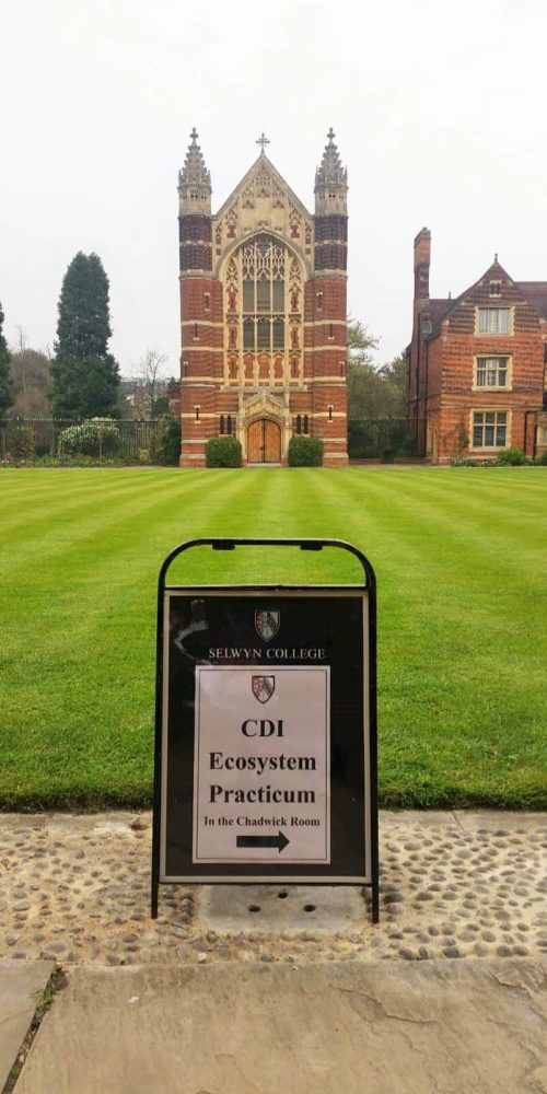 Sign of the Cambridge Ecosystem Practicum