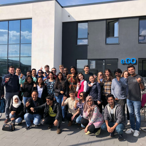 Students of MSM during Module Week in Aachen at e.Go, group picture