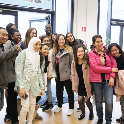 Students of MSM during Module Week in Aachen, group picture