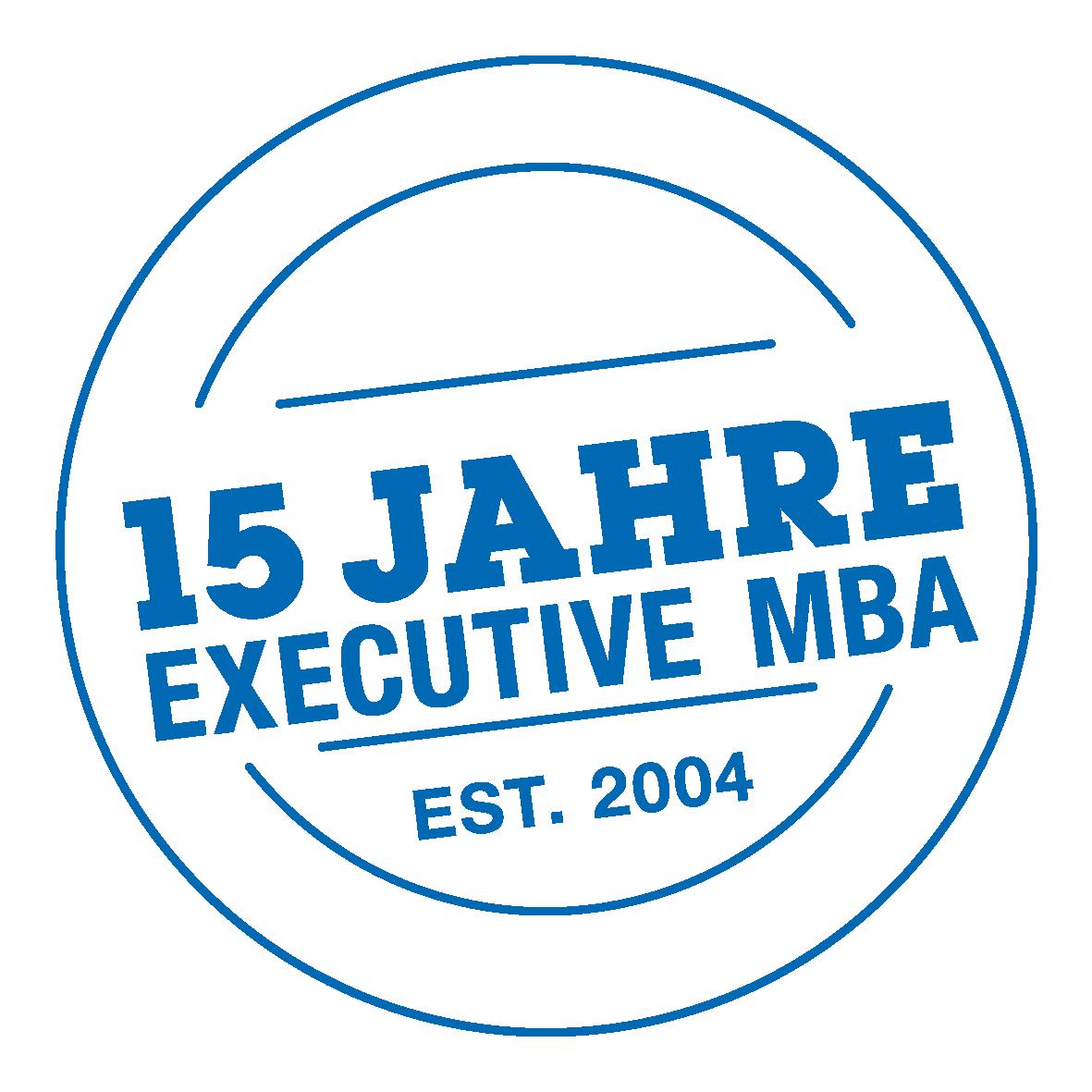 EMBA 15 Jahre Logo