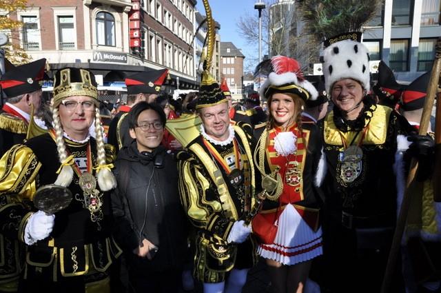 Student celebrating Carnival in Aachen