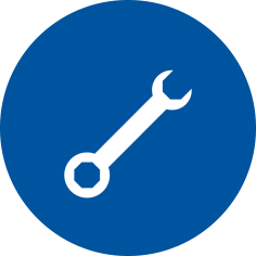 Pictogram Application Oriented showing a wrench