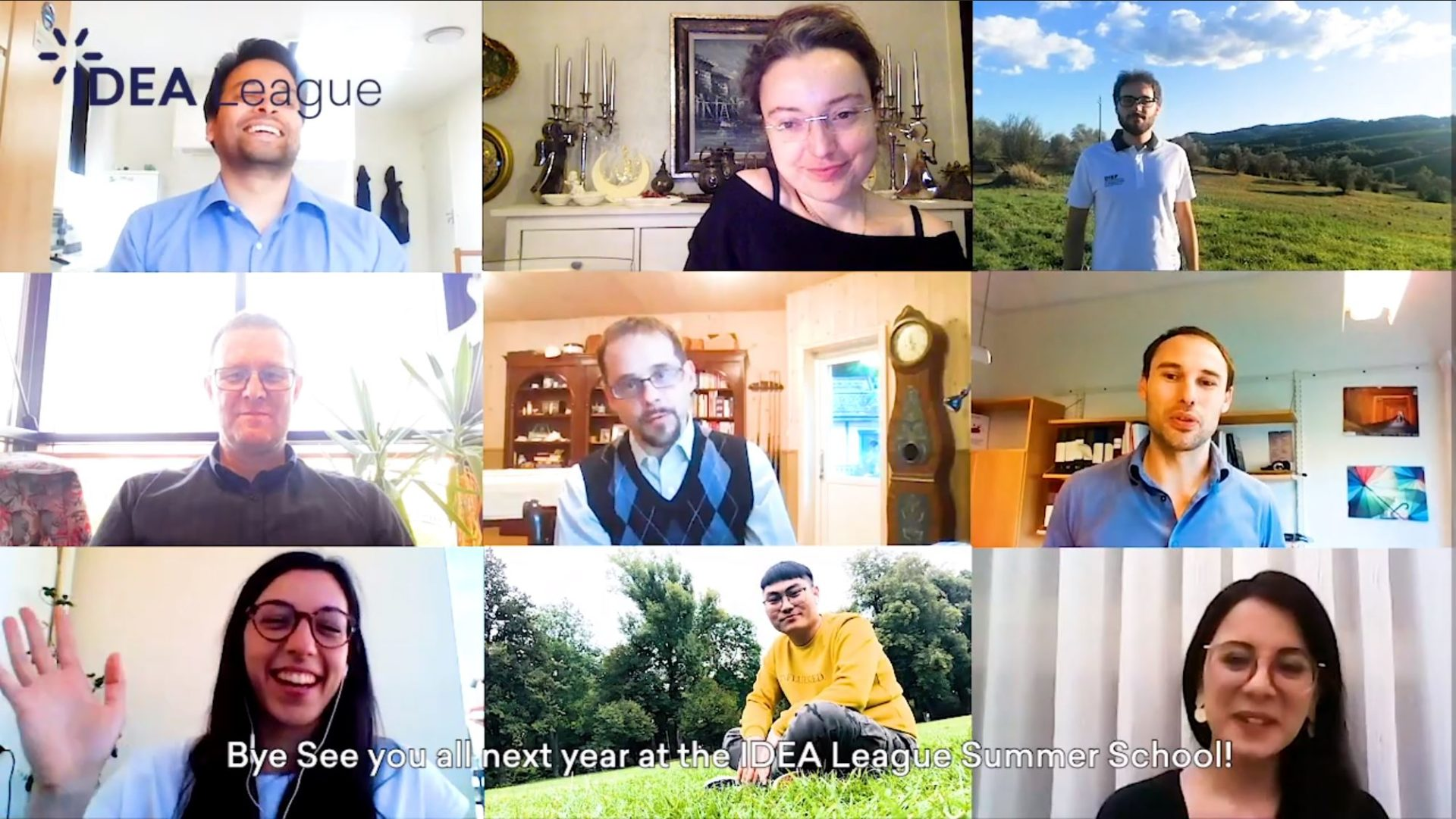 Video Screenshot with various testimonials of Summer School at Chalmers (IDEA League)