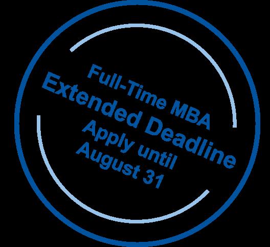 Full-Time MBA Extended Deadline | Apply until August 31